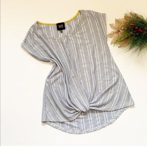 Anthro. W5 Striped Short Sleeve Top Size M